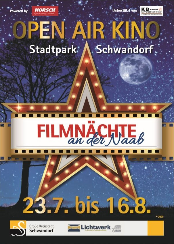 Banner Filmnächte an der Naab August 2020