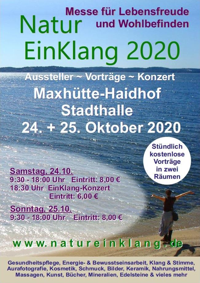 Banner NaturEinKlang Messe Oktober 2020