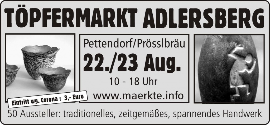 Töpfermarkt Adlersberg August 2020