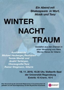 Winter Nacht Traum – Ein Abend mit Shakespeare in Wort, Musik und Tanz