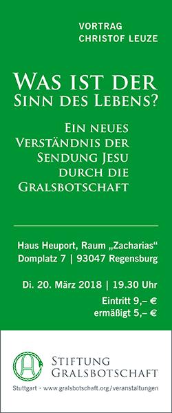 Stiftung Gralsbotschaft Vortrag Christof Leuze